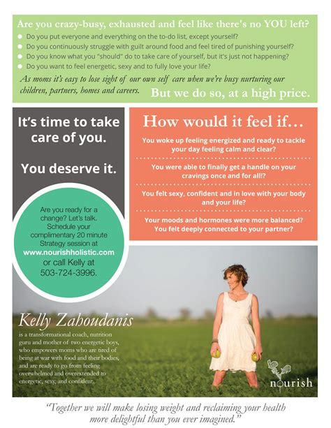 Graphic Design Services Holistic Health Coach Flyer My Work Pinterest Graphic Design Health Coach Brochure Templates