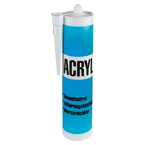 acryl silikon aussenbereich acryl wei 223 300 ml bauhaus