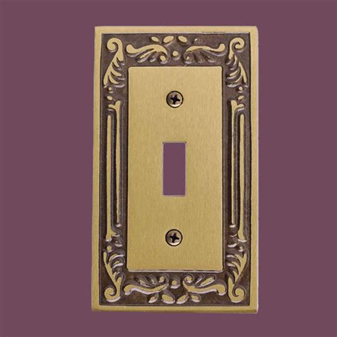 brass light switch covers victorian switch plate single toggle dimmer antique brass