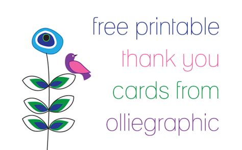 printable thank you cards free new calendar template site