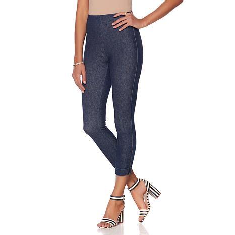 Denim Legging hsn lysse cropped stretch denim legging tvshoppingqueens