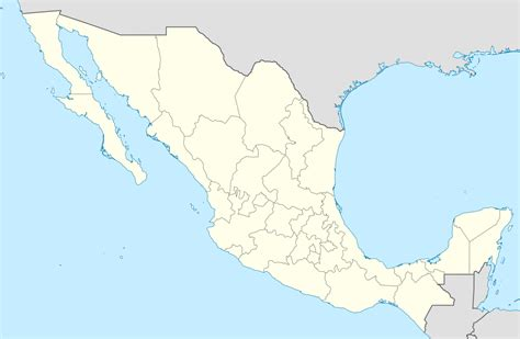 the map of mexico states blank map of mexico states