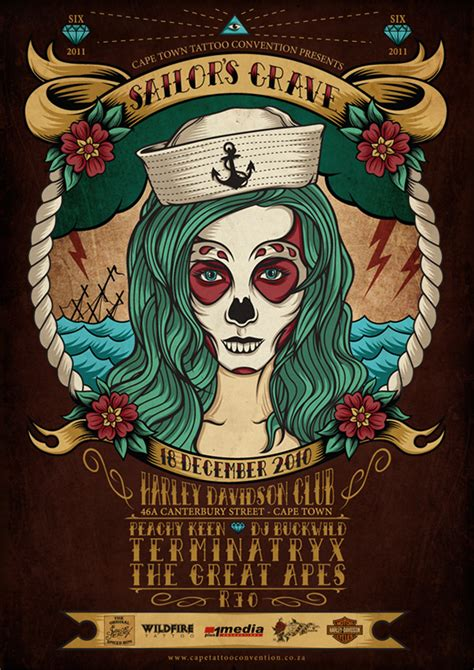 tattoo parlor cape town cape town interbnational tattoo convention 2011 on behance