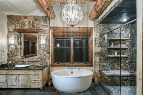 Nature Inspired Master Bathroom with Freestanding Bathtub