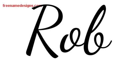 rob name lively script name designs archives free name designs