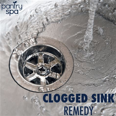 Clogged Kitchen Sink Home Remedy Unclog Sink Drain Remedy Unclog Drains With Baking Soda Vinegar Pantry Spa