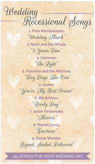 country wedding ceremony songs