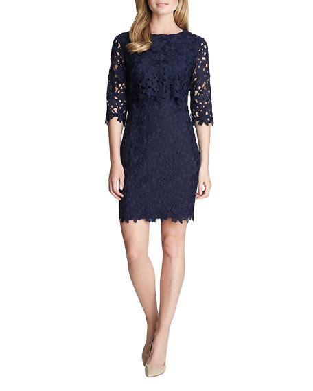 3 4 Sleeve Lace Sheath Dress cynthia steffe 3 4 sleeve lace sheath dress