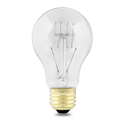 medium base string lights shop feit electric 60 watt a19 medium base clear incandescent string light bulb at lowes