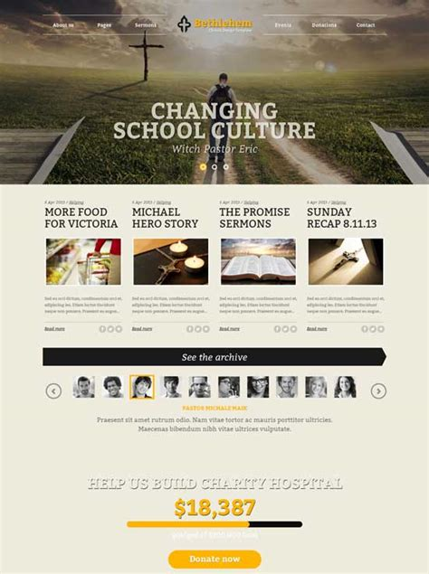 templates bootstrap church 30 best church website templates free premium