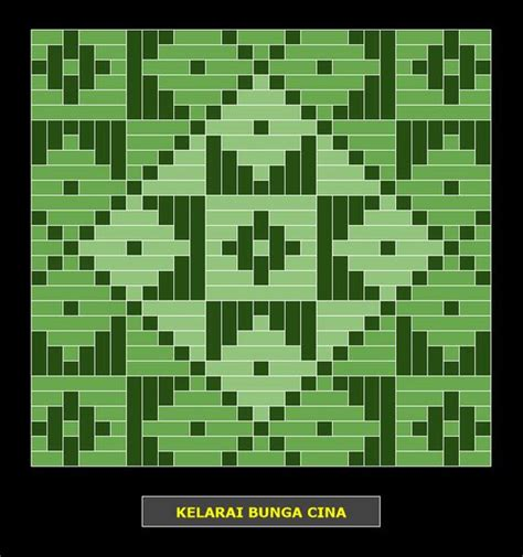 bunga tanjung pattern kelarai bunga cina weaving patterns kelarai pinterest