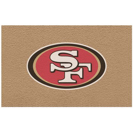 49ers Doormat by San Francisco 49ers Color Exterior Doormat Walmart