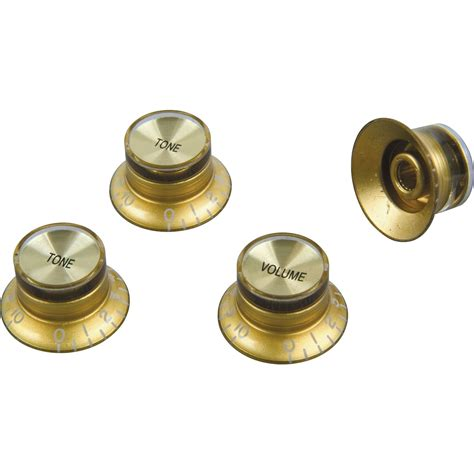 proline electric guitar top hat style knobs 4 pack