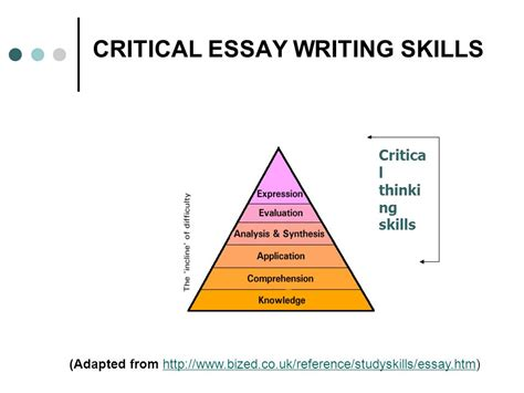 Esl Critical Analysis Essay Writing by Writing Critical Essays Critical Essays National Purpose