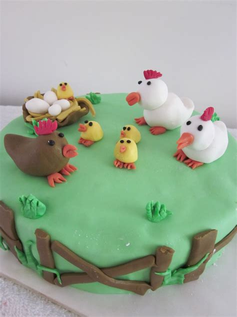 chicken farm cake gluten free coastal cake design