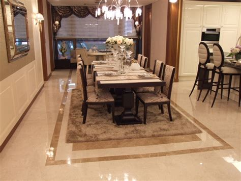 Dining Room Tile Wood And Tile The Dining Room Flooring For Comfortable Shhozz