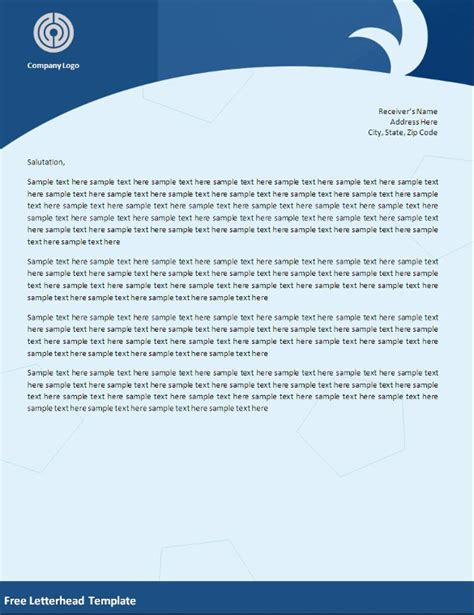 make a letterhead template in word 32 word letterhead templates free sles exles