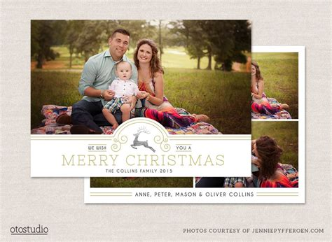 Family Portrait Card Template by 12 Card Photoshop Templates To Get You Up And