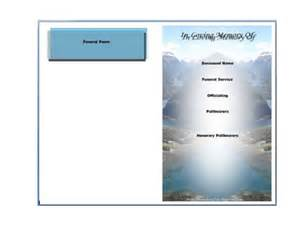 Funeral Templates Free by Funeral Program Template Helloalive