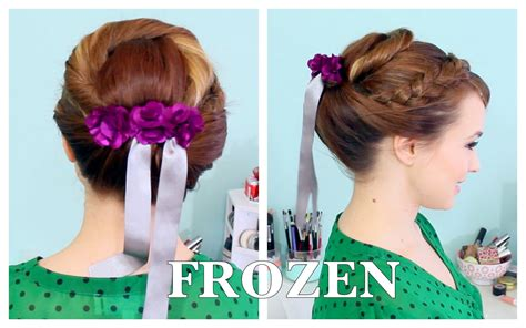 anna from frozen hairstyle anna s coronation updo from frozen februhairy day 5