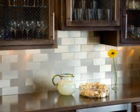 Peel And Stick Backsplash For Kitchen Peel And Stick Backsplash Tiles Simple Kitchen With Metallic Subway Peel Stick Backspash Tile