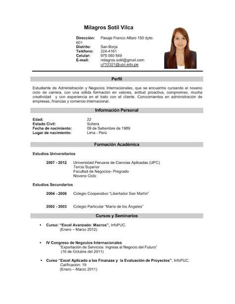 Plantillas De Curriculum Vitae Mi Primer Empleo Curriculum Vitae Curriculum Vitae Experiencia Laboral Argentina