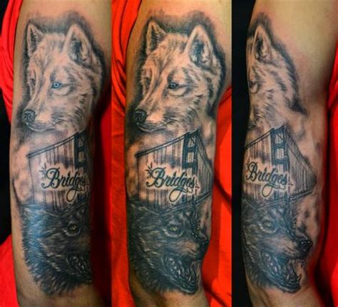 tattoo be gone sf sf golden gate bridge and wolves images tattoos