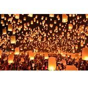 Wallpaper Thailand Festival Lanterns Floating Images