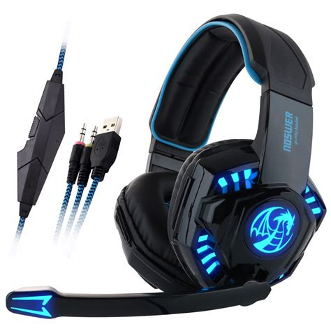Headset Laptop Noswer I8 Led Stereo Headset Computer Headphones Earphones