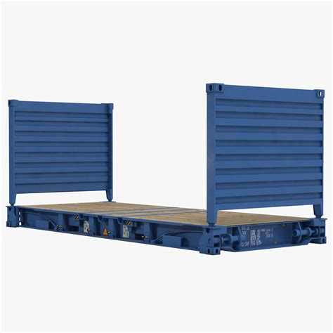 Flat Rack Container by 3d Model Flat Rack Container Blue
