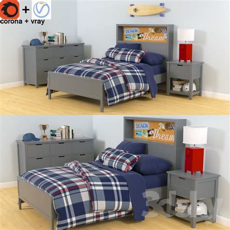 Sutton Bedroom Furniture by 3d Models Furniture Set Pottery Barn Bed Sutton