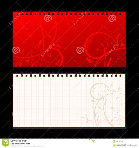 notebook cover design vector free download notebook cover and page for your design stock vector