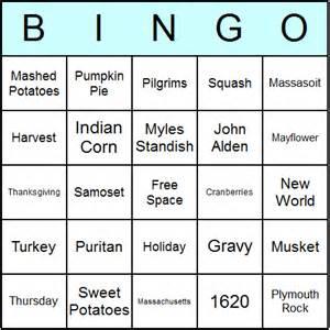 thanksgiving bingo cards printable bingo activity game