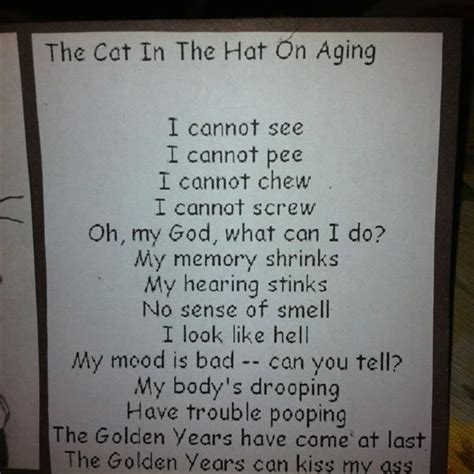 over the hill 60th birthday poems funny related pictures the cat in the hat on aging jpg quotes