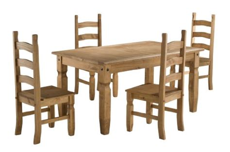 Waxed Pine Dining Table Birlea Corona 5ft Dining Set Table 4 Chairs Waxed Pine Search Furniture