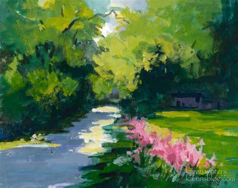 descanso gardens path california impressionist landscape