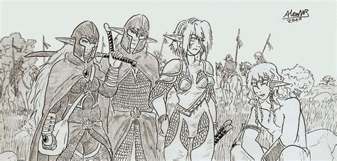 Organizating by Elven Rangers By Shabazik On Deviantart