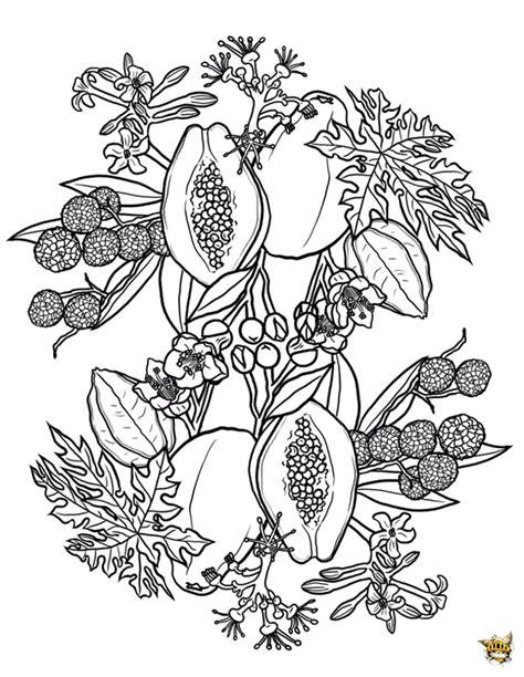 Mandala 7 Est Un Coloriage De Mandala Fruits Et L 233 Gumes