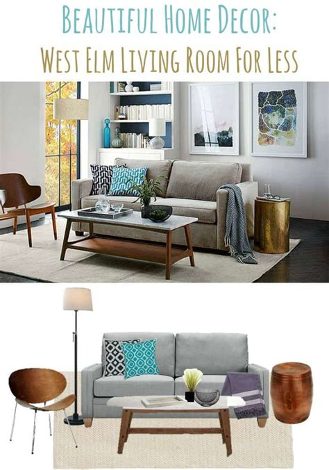home decor for less beautiful home decor ideas west elm living room for less