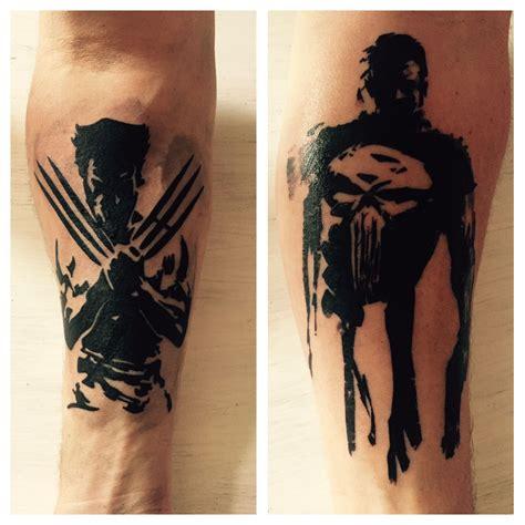 punisher tattoos underarm wolverine punisher ideas