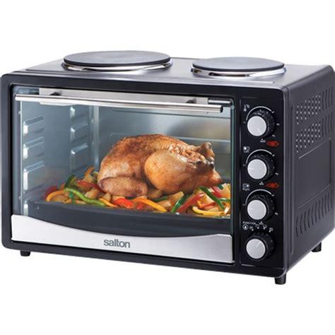 Toaster Dvd Burner Salton 30l Black With 2 Plates Mini Kitchen Oven Sfmk02