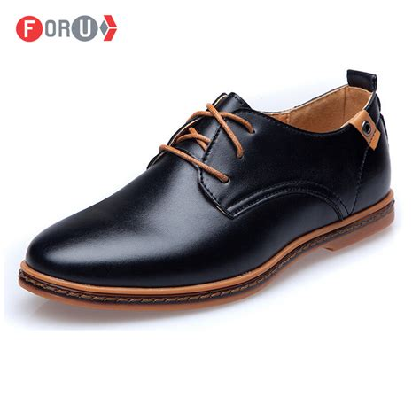foru new 2016 shoes leather casual lace up brown black