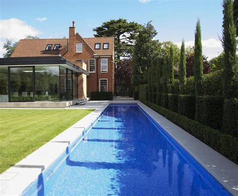 outdoor lap pool luxury outdoor lap pool private client london guncast