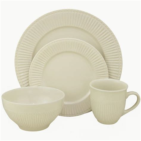 lorren home trends stoneware dinnerware set lh213 pattern