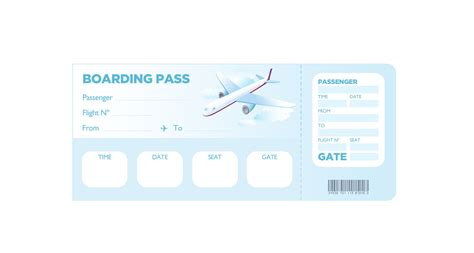 free boarding pass template boarding pass template free template design