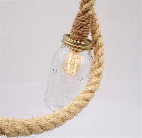 rope pendant light kilner jar rope pendant light by unique s co