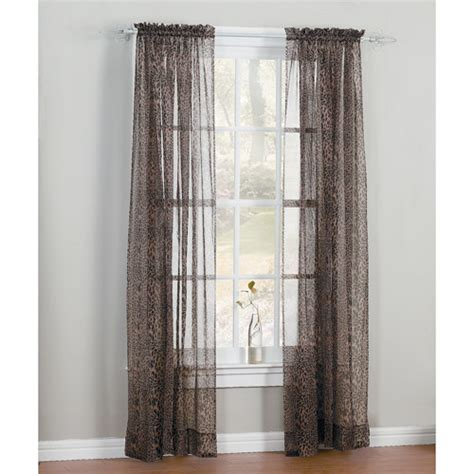 walmart window curtains leopard print window curtain panel walmart com