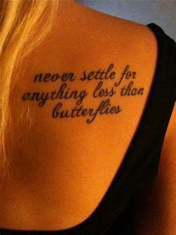 tattoo butterfly quotes butterflies love quote satc tattoo image 338608 on