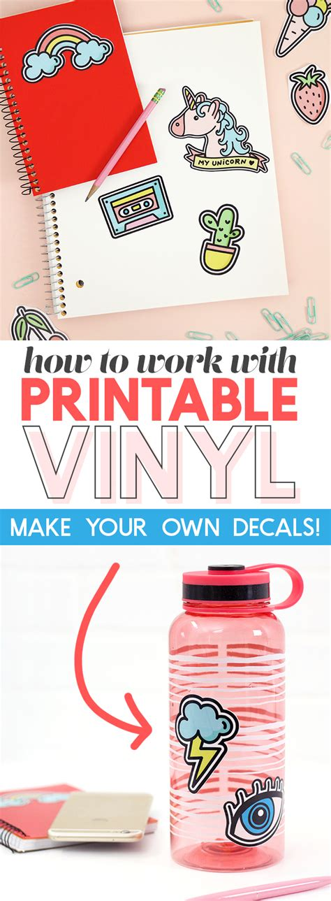 printable vinyl stickers how to work with printable vinyl diy vinyl stickers