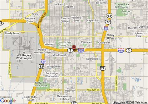 oklahoma city us map map of inn express oklahoma city i 240 oklahoma city